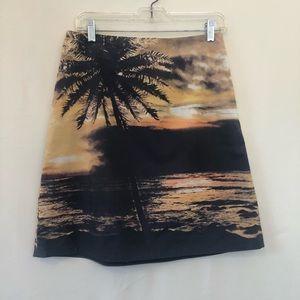 Anthropologie Skirts - Anthropologie HD in Paris palm tree beach skirt